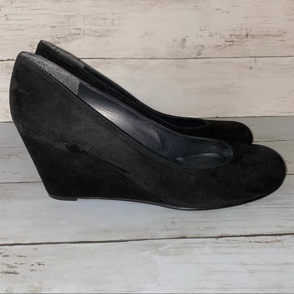 STUART WEITZMAN Black Wedge Heels Sz 9.5